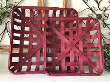 Rustic Red TOBACCO BASKET ~Small Basket Only ~ Farmhouse Chic Decor!