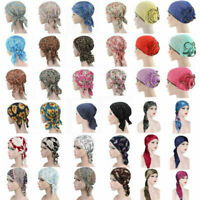 Women Cancer Hat Chemo Cap Muslim Hair Loss Head Scarf Turban Head Wrap Covers.