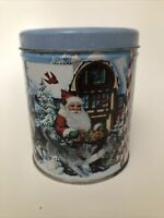 Lynn Bywaters Collectors Christmas Tin Santa Claus 5 Inches Tall & 4 Inches Wide