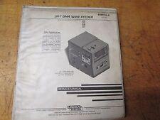Lincoln Electric LN-7 GMA  Wire Feeder Service Manual