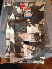 Boys Wrangler Cargo Shorts 8 HUSKY WHITE/GRAY CAMO Adjust to Fit NWT