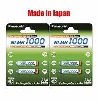 Panasonic High Capacity rechargeable AAA battery Ni-MH 1000mAh 4pk