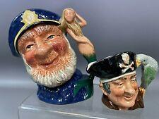 L👀K  Royal Doulton Character Jugs Old Salt & Long John Silver