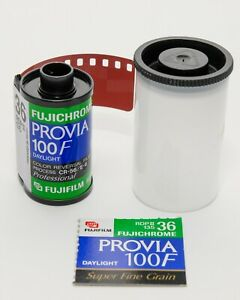 FUJICHROME PROVIA 100F RDP III COLOR TRANSPARENCY FILM! FREEZER KEPT! EXPIRED!