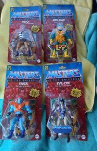 MOTU Masters of the Universe Origins Wave 5 Mattel Lot of 4 Fisto Faker Mer-Man