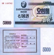 Billete/Bono de 5000 wons año 2003 de Corea del N.