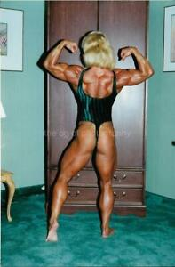 JUDY MILLER Female Bodybuilder MUSCLE WOMAN 80' 90s FOUND PHOTO Color EN 17 8 F