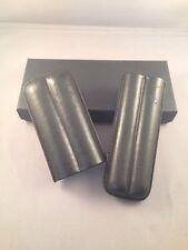 Large BLACK Leather Cigar Case - 2 Finger 54 RG C11219
