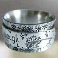 2020 Frauen Mode Löwenzahn rotierender Ring neues Mädchen Geschenk X1U8