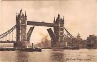 uk3757 the tower bridge london ship real photo uk