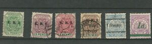 TRANSVAAL BRITISH COLONIES  POSTAL USED REVENUE STAMPS XXX  LOT (BRCOL 91)