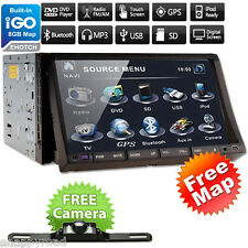Win6 2 DIN GPS Navigation Car DVD Player Satellite Stereo Radio Bluetooth+Camera