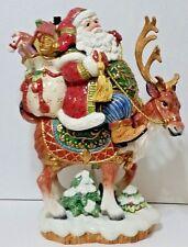 "Fitz & Floyd ""Jolly Ole St. Nick"" Large Santa Claus Centerpiece - 15"" Tall"