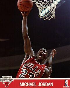 Michael Jordan Chicago Bulls 1991 NBA Hoops 8x10 Glossy Cardstock Photo A1