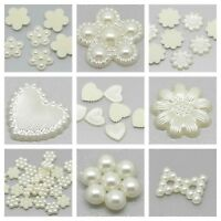 Ivory Pearl Effect Embellishments for Wedding Card Making Craft CHOICE OF STYLES