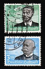 Nazi Germany 1934 Lilienthal & Zeppelin Vertical Gum Used J
