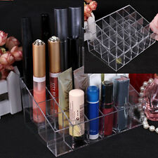 Lipstick Organizer Nail Polish Makeup Case Cosmetic 24 Stand Display Rack Holder