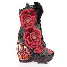 Irregular Choice Textile Wedge Heels for Women