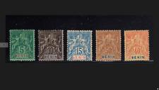 Benin Scott 36//42 French Colonies 5 Stamps Mint/Unused