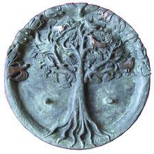 Taufkerzenleuchter Zwillinge Bronze Edelpatina grün baptism candle holder twins