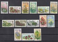 X2156/ BRITISH FALKLAND – FLOWERS – Y&T # 160 / 173 COMPLETE MINT MNH – CV 115 $