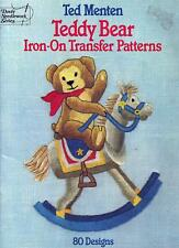 Teddy Bear Iron-On Transfers Patterns Embroidery Booklet Ted Menten - Dover