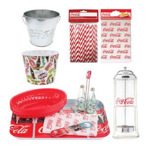 TableCraft Coca Cola Retro Snack Bundle Set (10-Piece Set)