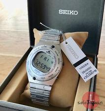 Seiko SBJG001 Giugiaro Design 39,4mm Caja Aluminio Correa Acero Inoxidable Reloj Unisex