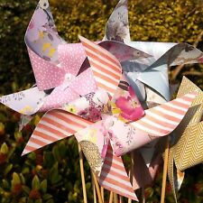 50 Mini Paper Pinwheel Kit Wedding DIY bumper pack SPINNING