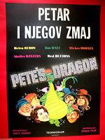 PETE'S DRAGON 1977 WALT DISNEY DON CHAFFEY VERY RARE EXYU MOVIE POSTER