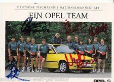 Borussia Dortmund Opel Team TOP AK Original Signiert Tischtennis +A33383