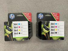 GENUINE HP 364 PRINTER CARTRIDGES (COLOUR 4 PACK) X2 <<<<LOOK!>>>>