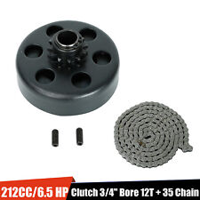 """Engine 212Cc Centrifugal Clutch 3/4"""" Bore 12 Tooth+35 Chain Up to 6.5 Hp Go Kart"""
