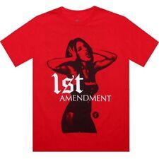 $25.00 Tits 1st Amendment Tee (red) M2212Red