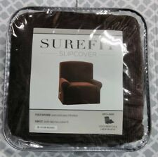 Surefit slipcover, 1 piece slipcover chocolate