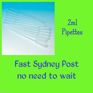 2ml Plastic Pipettes Dropper Candle Soap Paint Airbrush Dye * FREE Sydney Post