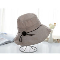 f9c9f79987f54 Trendy Elegant Ladylike Retro Classic Women Lady Beach Wide Brim Sun Bucket  Hat