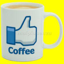 "Tazza caffé ""Mi Piace"" - I Like Coffeee Mug - Spinning Hat - per colazione latte"