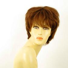 perruque femme 100% cheveux naturel châtain clair cuivré ref SYLVIE 30