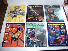 Lot Of (6) ORIGINAL PINBALL MACHINE Flyers NBA FRANKENSTEIN  JACK BOT set #1