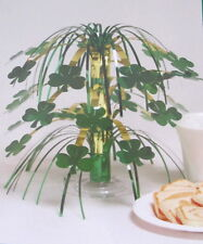 "2 Irish St Patricks Shamrocks Mini Cascade 8.5"" Patrick's Shamrock Centerpiece"