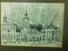 Independence Hall Framed Sketch Print