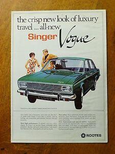 Original Singer Vogue sales brochure, Rootes Ref: 8005/H