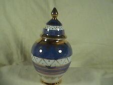 Iris Porcelain Lidded Urn, Vase Gold trim, Hungary