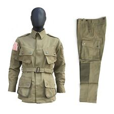 WWII US Army Airborne Paratrooper M42 Field Jacket Trousers SET Size 42R/M