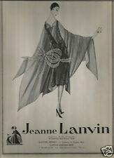 20's Jeanne Lanvin & Agnes Paris Couture Ads1926