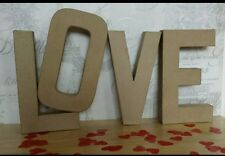 Paper Mache giant Cardboard Letters LOVE Signs 3D Craft 20.5cm