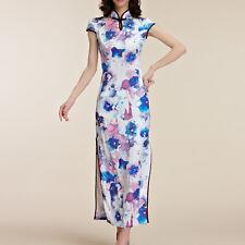 Women Oriental Style Festive Flag Dress Cap Sleeve Size 8 10 12 14 16 18 #28589