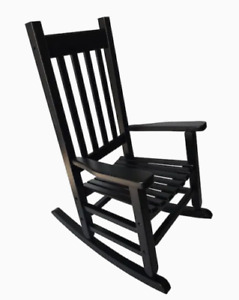 Garden Treasures Children's Rocking Chair, BLACK, 110lb Weight Capacity