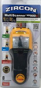 Zircon HD900C MultiScanner Wall Scanner Stud Finder, Multi-Color Display